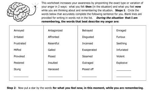 04-1 Anger Management Worksheet Naming Anger Types and Variations v1thumb